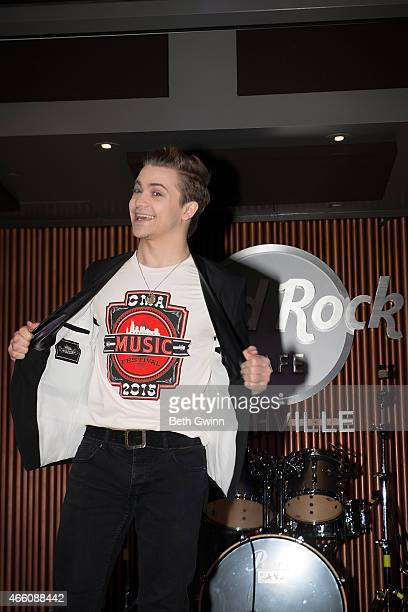 Hunter Hayes attends a press conference for the 2015 CMA Music Festival at Hard Rock Cafe Nashville on March 13 2015 in Nashville Tennessee