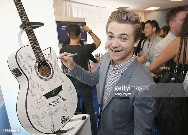 Hunter Hayes attends the American Airlines Suite during 2015 CMT Music Awards at Bridgestone Arena on June 10 2015 in Nashville Tennessee