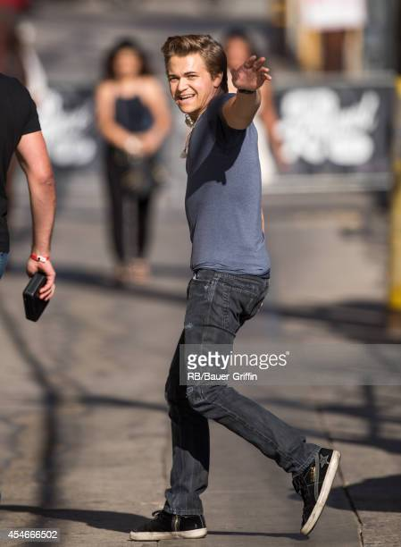 Hunter Hayes is seen at 'Jimmy Kimmel Live' on September 04 2014in Los Angeles California