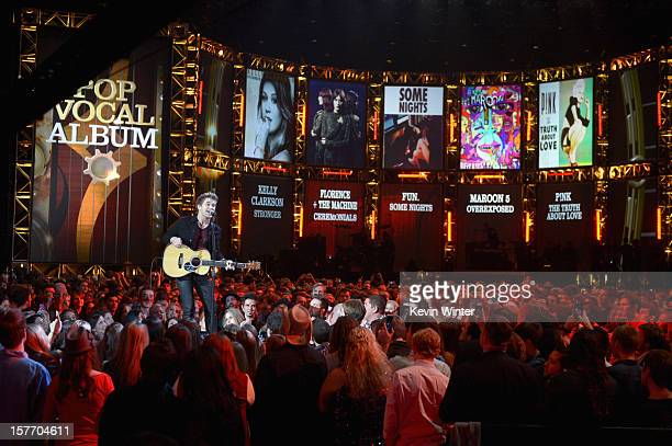 Hunter Hayes onstage at The GRAMMY Nominations Concert Live held at Bridgestone Arena on December 5 2012 in Nashville Tennessee