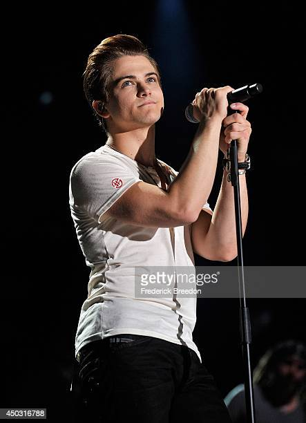 Hunter Hayes performs at LP Field at the 2014 CMA Festival on June 8 2014 in Nashville Tennessee