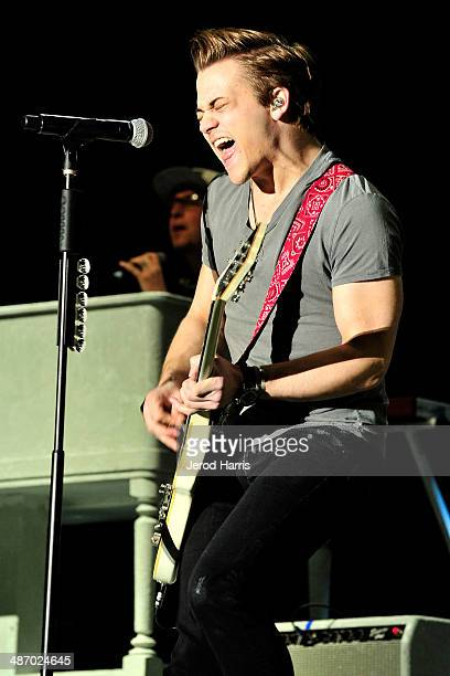 Hunter Hayes performs at the 2014 Stagecoach Country Music Festival Day 2 at the Empire Polo Club on April 26 2014 in Indio California