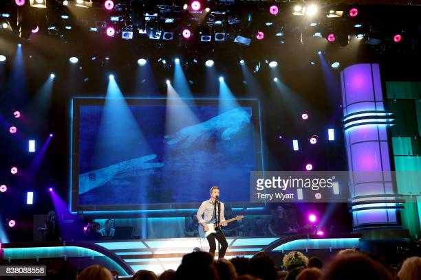 Hunter Hayes performs onstage during the 11th Annual ACM Honors at the Ryman Auditorium on August 23 2017 in Nashville Tennessee