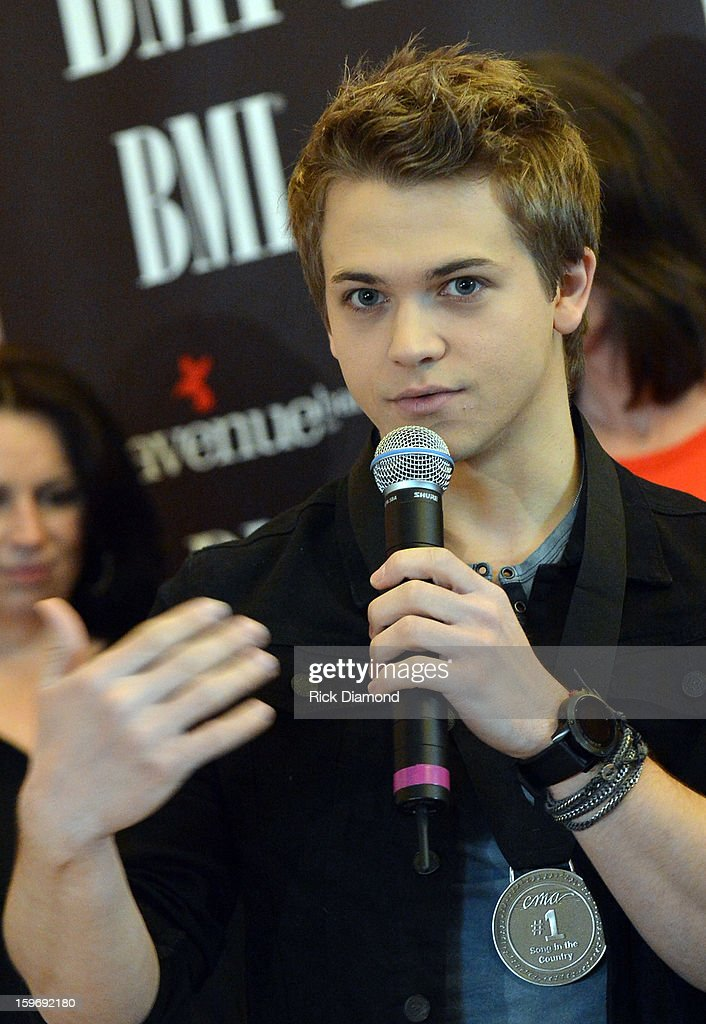 <a gi-track='captionPersonalityLinkClicked' href=/galleries/search?phrase=Hunter+Hayes&family=editorial&specificpeople=3290701 ng-click='$event.stopPropagation()'>Hunter Hayes</a> Singer/Songeriter and co-writer on 'Wanted' No 1 Party on January 17, 2013 in Nashville, Tennessee.