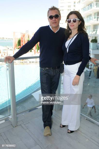 Hunter Hill and Mary Beth Schmitt attend PAPER MAGAZINE and AOL Host a Brunch to Honor SHEPARD FAIREY at Mondrian Hotel on December 4 2010 in Miami...