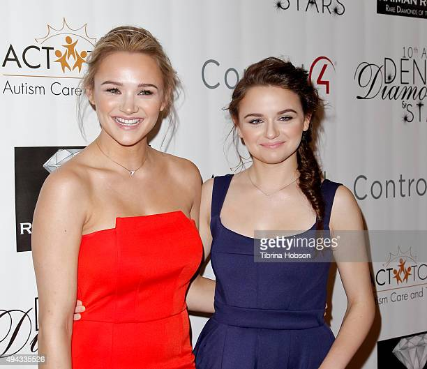 Hunter King and Joey King attend ACT's 10th annual Denim Diamonds Gala at Four Seasons Hotel on October 25 2015 in Westlake Village California