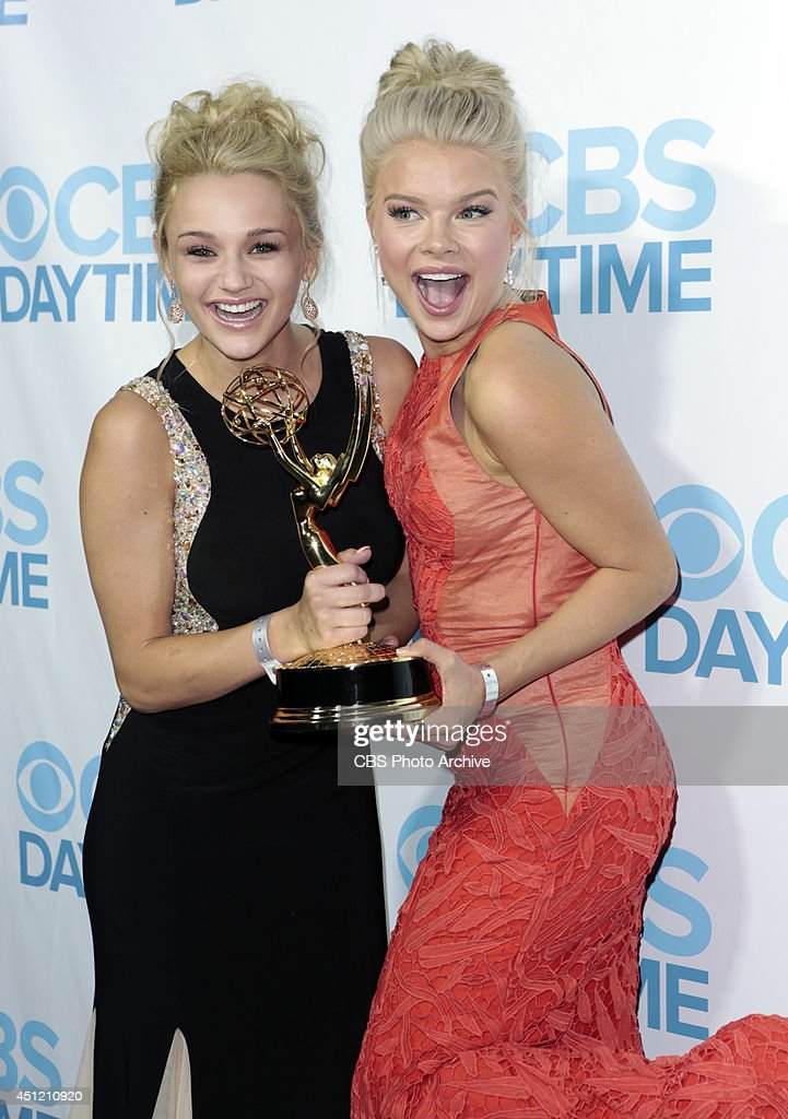 Hunter King and Kelli Goss of CBS Daytime's The Young and the Restless attends The 41st Annual Daytime Emmy® Awards in Los Angeles on Sunday, June 22.