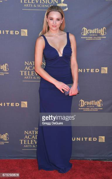 Hunter King arrives at the 44th Annual Daytime Emmy Awards at Pasadena Civic Auditorium on April 30 2017 in Pasadena California