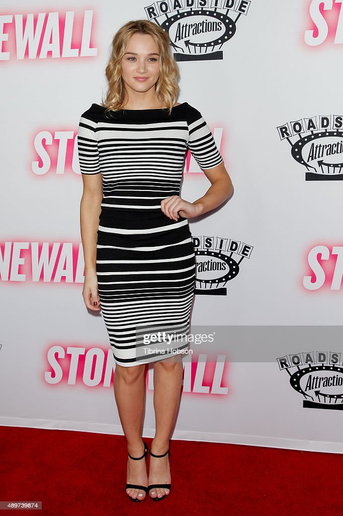 <a gi-track='captionPersonalityLinkClicked' href=/galleries/search?phrase=Hunter+King&family=editorial&specificpeople=9938218 ng-click='$event.stopPropagation()'>Hunter King</a> attends the premiere of Roadside Attractions' 'Stonewall' at the Pacific Design Center on September 23, 2015 in West Hollywood, California.