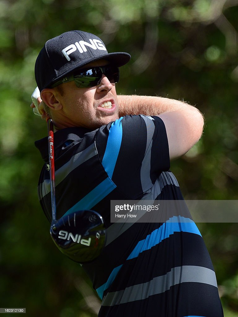 <a gi-track='captionPersonalityLinkClicked' href=/galleries/search?phrase=Hunter+Mahan&family=editorial&specificpeople=885292 ng-click='$event.stopPropagation()'>Hunter Mahan</a> hits a driver on the 12th hole during the third round of the Northern Trust Open at the Riviera Country Club on February 16, 2013 in Pacific Palisades, California.
