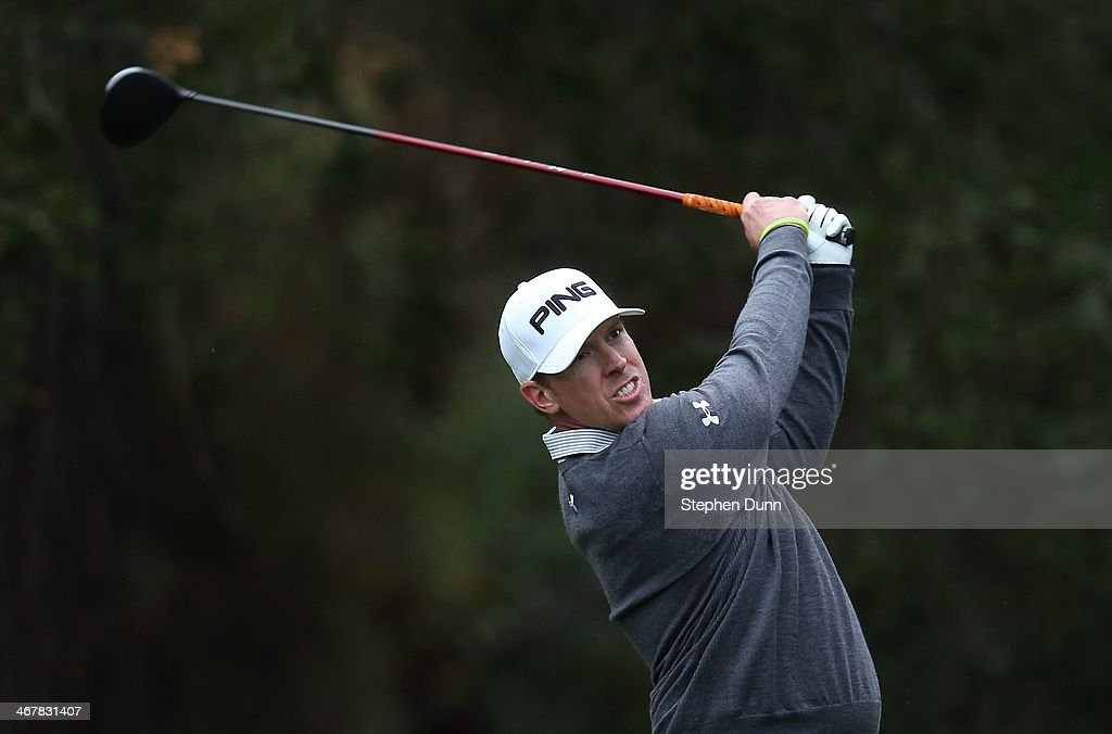 <a gi-track='captionPersonalityLinkClicked' href=/galleries/search?phrase=Hunter+Mahan&family=editorial&specificpeople=885292 ng-click='$event.stopPropagation()'>Hunter Mahan</a> hits a tee shot during the second round of the AT&T Pebble Beach National Pro-Am at the Spyglass Hill Golf Course on February 7, 2014 in Pebble Beach, California.