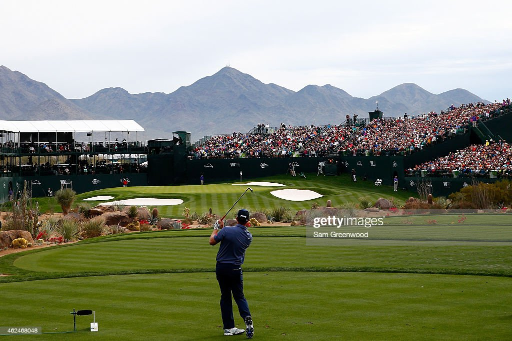 <a gi-track='captionPersonalityLinkClicked' href=/galleries/search?phrase=Hunter+Mahan&family=editorial&specificpeople=885292 ng-click='$event.stopPropagation()'>Hunter Mahan</a> hits a tee shot on the 16th hole during the first round of the Waste Management Phoenix Open at TPC Scottsdale on January 29, 2015 in Scottsdale, Arizona.