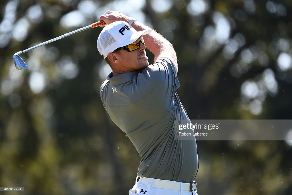 <a gi-track='captionPersonalityLinkClicked' href=/galleries/search?phrase=Hunter+Mahan&family=editorial&specificpeople=885292 ng-click='$event.stopPropagation()'>Hunter Mahan</a> hits his tee shot on the second hole during round two of the Frys.com Open at Silverado Resort and Spa on October 10, 2014 in Napa, California.