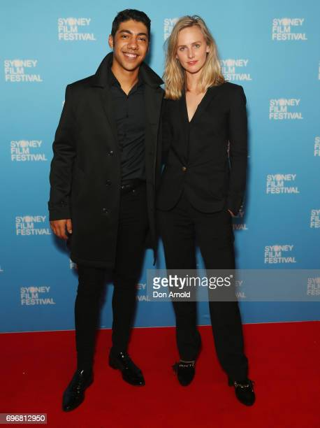 Hunter PageLochard and Taylor Ferguson arrive ahead of the world premiere of Cleverman 2 during the Sydney Film Festival on June 17 2017 in Sydney...