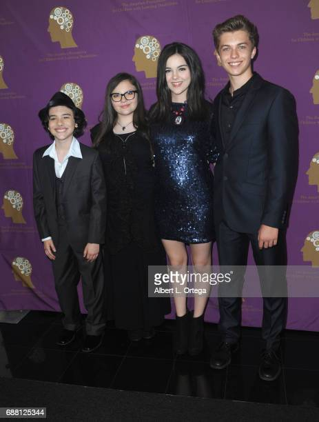 Hunter Peyton Marlowe Peyton Merit Leighton and Jacob Hopkins arrive for The Jonathan Foundation Presents The 2017 Spring Fundraising Event To...