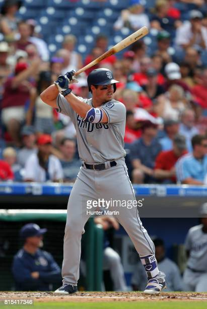 Hunter Renfroe of the San Diego Padres during a game against the Philadelphia Phillies at Citizens Bank Park on July 8 2017 in Philadelphia...