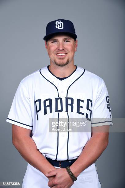 Hunter Renfroe of the San Diego Padres poses during Photo Day on Sunday February 19 2017 at Peoria Stadium in Peoria Arizona
