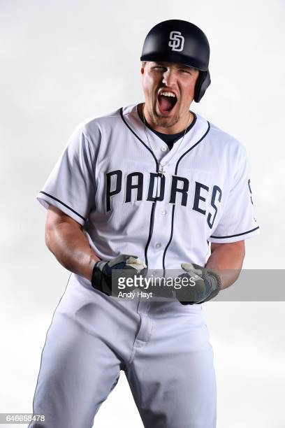 Hunter Renfroe of the San Diego Padres poses for a portrait on photo day at the Peoria Sports Complex on February 19 2017 in Peoria Arizona