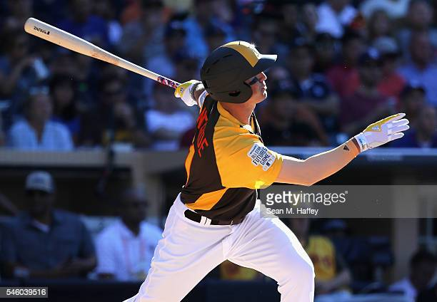 Hunter Renfroe of the US Team bats during the SiriusXM AllStar Futures Game at PETCO Park on July 10 2016 in San Diego California
