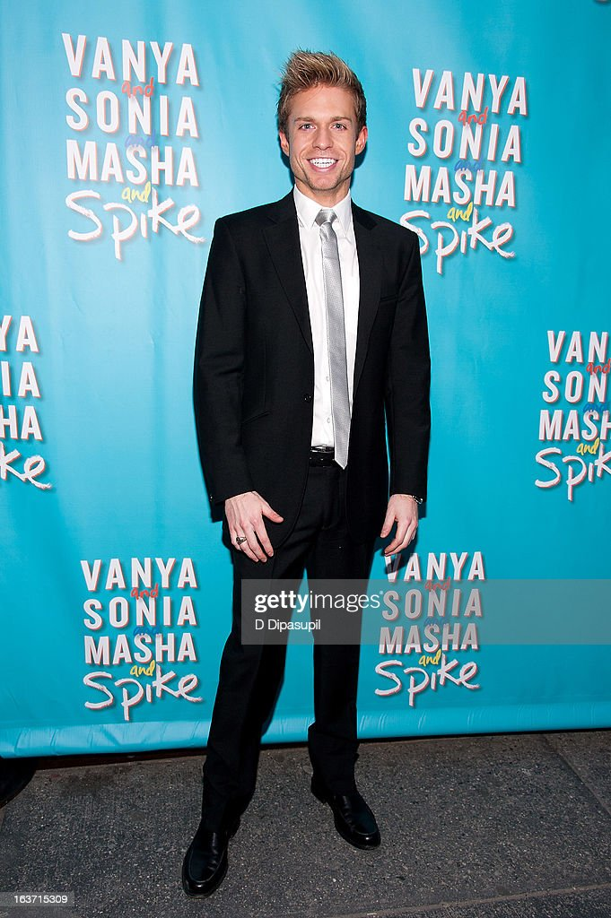 Hunter Ryan Herdlicka attends the 'Vanya And Sonia And Masha And Spike' Broadway Opening Night at The Golden Theatre on March 14, 2013 in New York City.