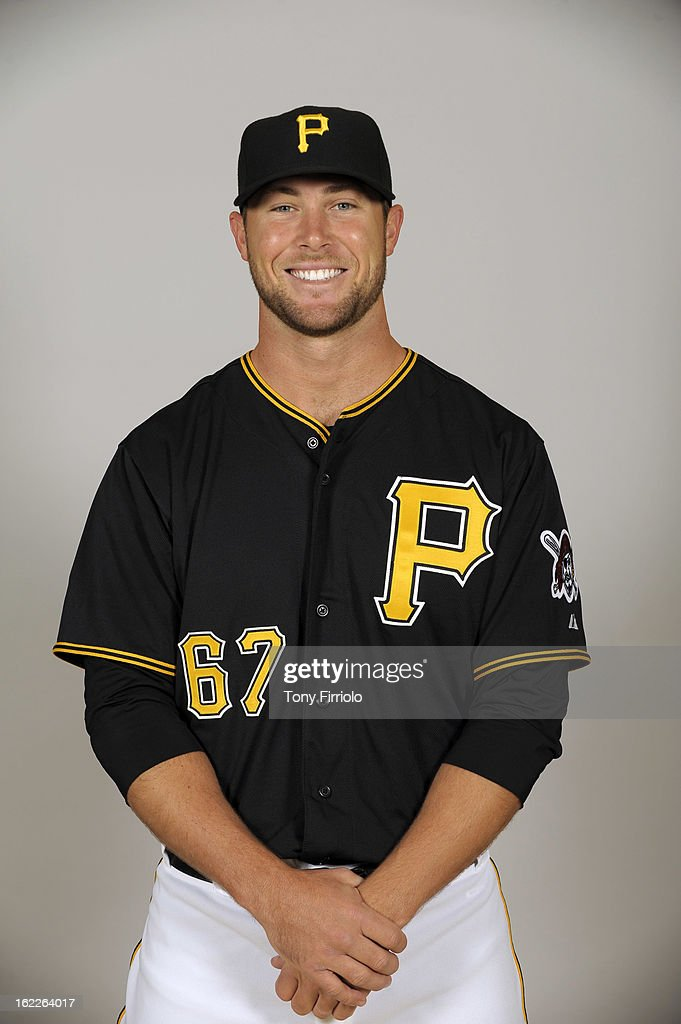 Hunter Strickland #67 of the Pittsburgh Pirates poses during Photo Day on February 17, 2013 at McKechnie Field in Bradenton, Florida.