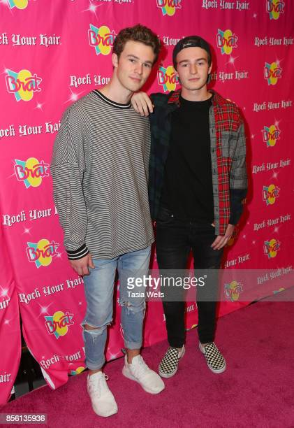 Hunter Summerall and Dylan Summerall at Rock Your Hair Presents Rock Back to School Concert Party on September 30 2017 in Los Angeles California
