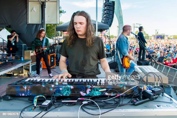 Hunter Thomoson Ryan Hater Tony Esposito and Sam Wilkerson of White Reaper perform during Austin City Limits Festival at Zilker Park on October 15...