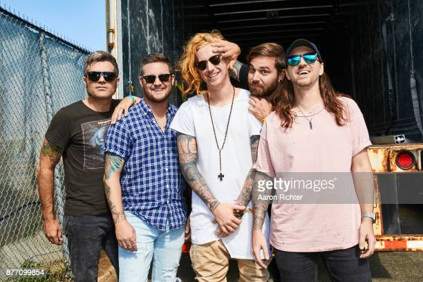 Hunter Thomsen Coley O'Toole Danny Duncan Charles Trippy and Travis Clark of We The Kings are photographed for Billboard Magazine on August 19 2017...