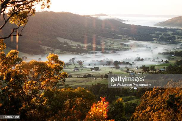 Hunter valley at sunrise