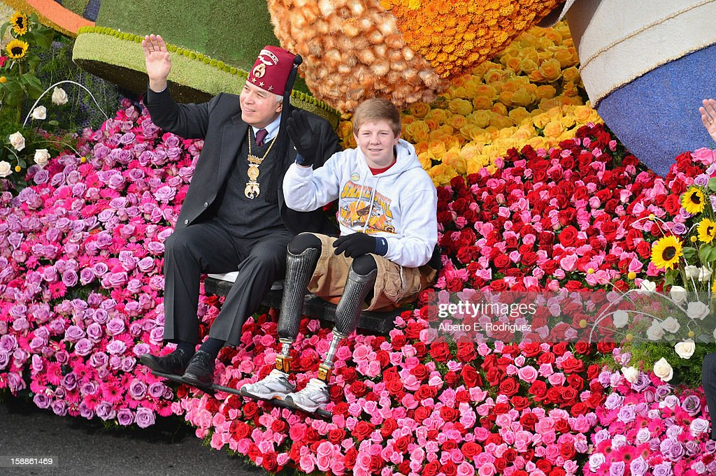 Hunter Woodhall on the Shriners Hospital for Children float participates in the 124th Tournamernt of Roses Parade on January 1, 2013 in Pasadena, California.