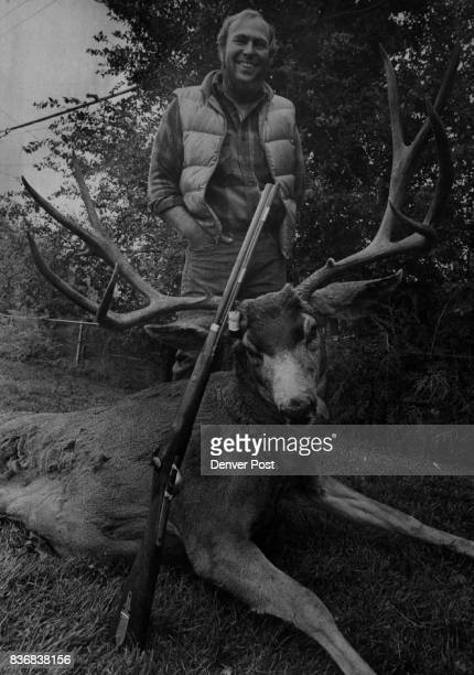 Hunting Animals Primitive weapon Bags huge buck on first try Gilbert Evans 1661 Carroll Court in Thornton bought a 58caliber muzzleloader rifle a...