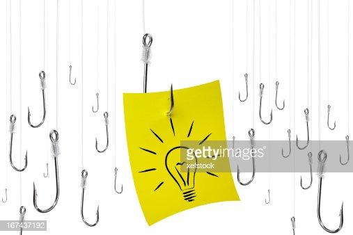 Caça de uma ideia. : Foto de stock