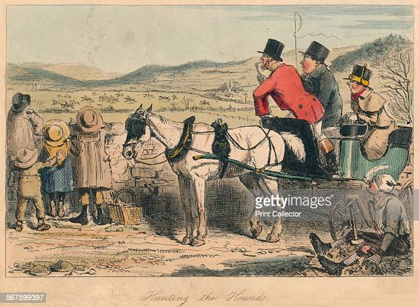 'Hunting the Hounds' 1865 From Mr Facey Romford's Hounds written by Robert Smith Surtees illustrated by John Leech and HK Phiz Browne [Bradbury Evans...