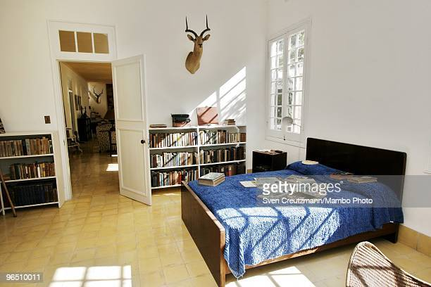 Hunting trophies hang on the walls of Ernest Hemingway�s house at the Finca Vigia on January 6 2007 in Havana Cuba The Hemingway Finca Vigia now...
