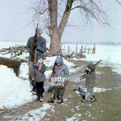 hunting with Grandad 1959
