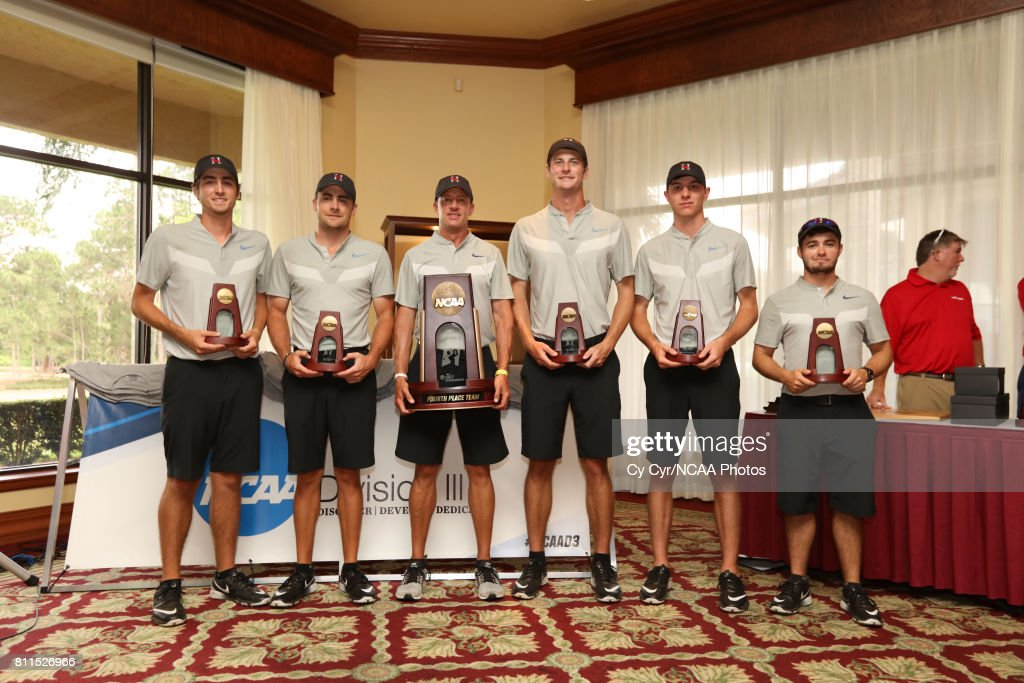 Huntingdon College receives the fourth place trophy following the Division III Men's Golf Championship held at the Mission Inn Resort and Club on May 19, 2017 in Howey In The Hills, Florida.