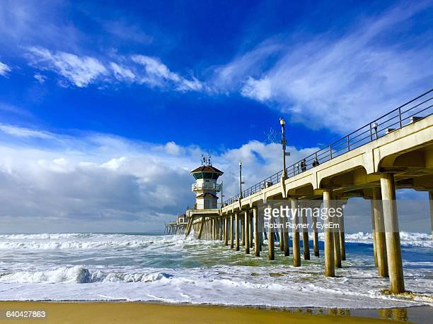 Huntington Beach Pier At Beach Against Sky