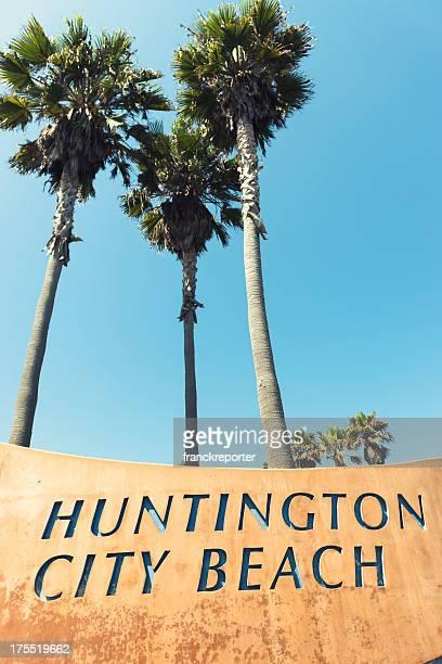 Huntington beach sign on California