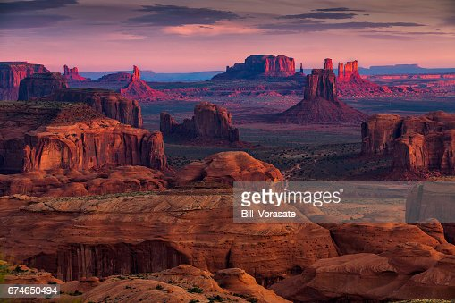 Hunts Mesa navajo tribal majesty place near Monument Valley, Arizona, USA : Foto stock