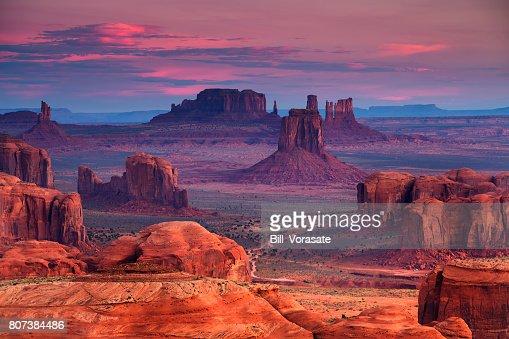 Hunts Mesa navajo tribal majesty place near Monument Valley, Arizona, USA : Stock Photo