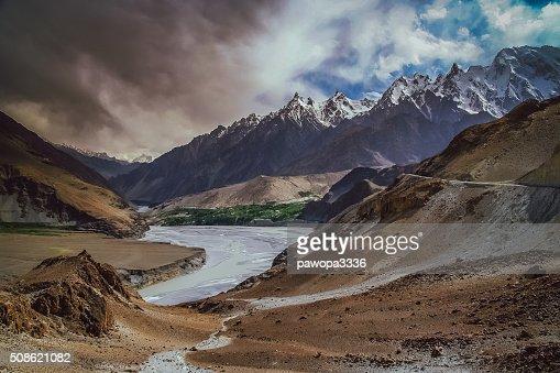 Hunza river : Stock Photo