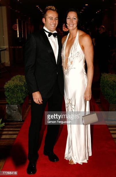 Hurdles champion Jana Pittman and partner Chris Rawlinson at the Sport Australia Hall of Fame dinner and induction ceremony at the Crown Palladium...