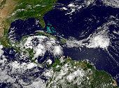 Hurricane Alex develops in the western Caribbean.