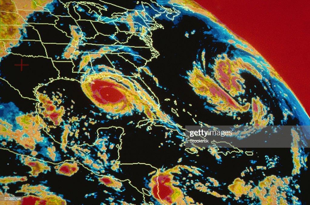 Hurricane Andrew : Stock Photo