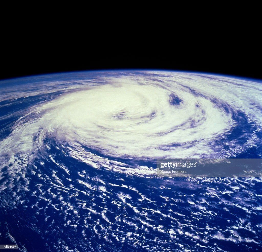 Hurricane Delfinia over Indian Ocean (Satellite image) : Stock Photo