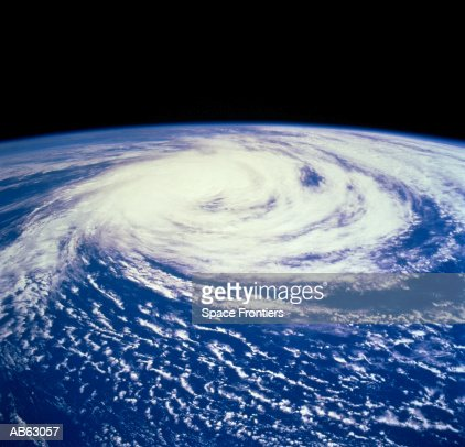 Hurricane Delfinia over Indian Ocean (Satellite image) : Foto de stock