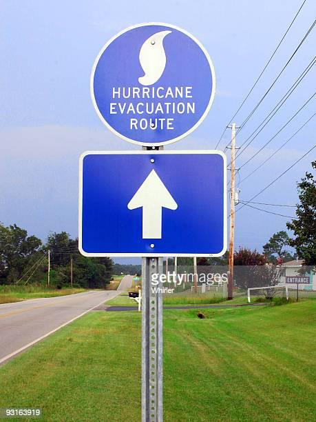 Hurrikan-Evakuierungs-Route