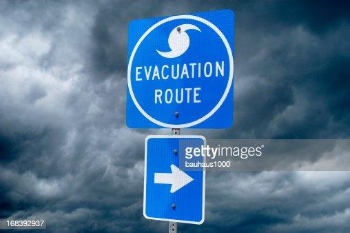 ハリケーン「避難ルート標識