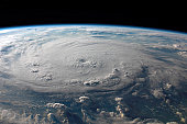 September 3, 2007 - This view of Hurricane Felix was taken from the Earth-orbiting International Space Station (ISS) by an Expedition 15 crewmember using a digital still camera equipped with a 28-70 m