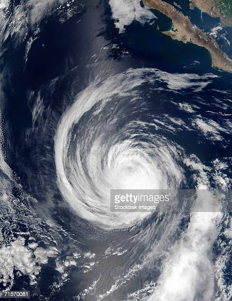 'Hurricane Hernan, satellite image'